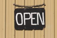 Open signboard stock photos