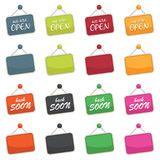 Open signs Stock Photography