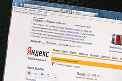 Open site of SEO Yandex Stock Photo