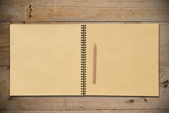 An Open Sketchbook with Pencil Royalty Free Stock Photo