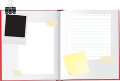 Open sketchbook or scrapbook Royalty Free Stock Image