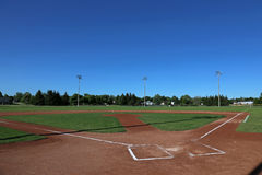 Open Sky Baseball Field Stock Photography