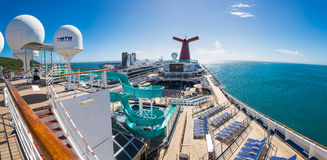 Open Sky Deck Of Carnival Liberty Royalty Free Stock Photos