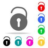 open slotpictogrammen Elementen van menselijke Web gekleurde pictogrammen Grafisch het ontwerppictogram van de premiekwaliteit Ee royalty-vrije illustratie