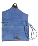 Open small flat handbag Stock Photo
