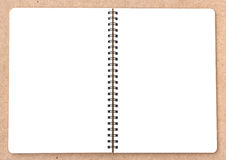 Open Small notepad on wood Stock Image
