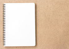 Open Small notepad on wood Stock Images
