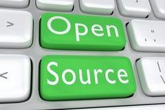 Open Source begrepp stock illustrationer