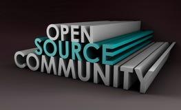 Open Source Community. Concept in 3D Art Stock Images