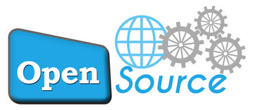 Open Source. Concept image with text and related elements Royalty Free Stock Photo