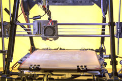 Open Source 3D Printer. Three dimensional printer, Printing with Plastic Wire Royalty Free Stock Photo