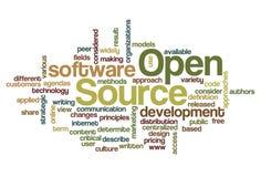 Open Source - nuage de mot Photographie stock