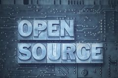 Open source - pc board Stock Photo