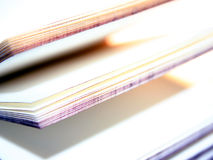 Open souvenir book Stock Photos