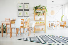 Open space apartment Stock Images