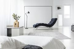 Open space with chaise lounge royalty free stock photo