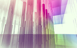 Open space, clean room with shapes in 3d, business space, hospit. Als or art gallery Royalty Free Stock Photo