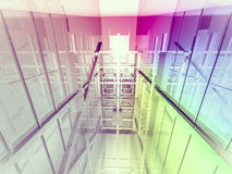Open space, clean room with shapes in 3d, business space, hospit. Als or art gallery Royalty Free Stock Photos