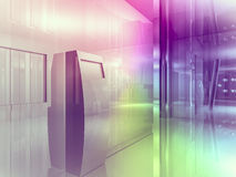 Open space, clean room with shapes in 3d, business space, hospit. Als or art gallery Royalty Free Stock Images