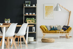 Open space with designed furnishings Royalty Free Stock Images