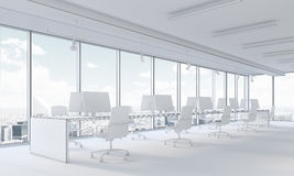 Open space office and city view Stock Photography