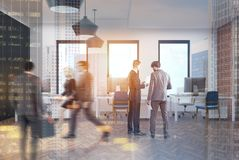 Open space office interior, people Royalty Free Stock Photo