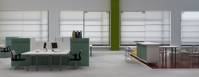 Open space office interior Royalty Free Stock Image