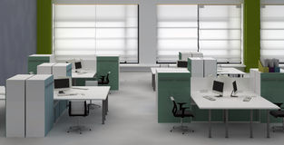 Open space office interior Royalty Free Stock Photos