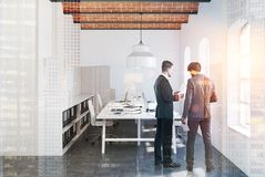 Brick ceiling open space office, concrete toned Stock Image