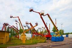 Mobile crane basket Royalty Free Stock Image