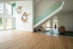 Open space in spacious house Royalty Free Stock Photography