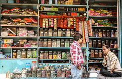 Open spice shop Royalty Free Stock Image