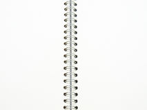 Open spiral binding notebook on white Royalty Free Stock Image