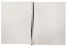 Open spiral notebook Stock Images