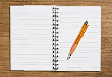 Open spiral notebook. Royalty Free Stock Image
