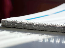 Open spiral notebook Royalty Free Stock Images