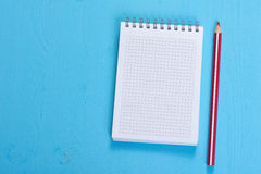 Open Spiral Notebook Royalty Free Stock Image