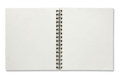 Open spiral notebook Stock Photos