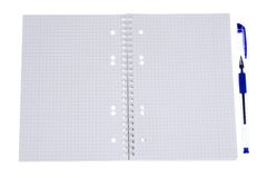 Open spiral notepad Stock Photos