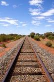Open spoorweg in het Australische Binnenland Royalty-vrije Stock Fotografie