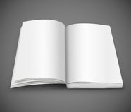 Open spread of book with blank white pages Stock Images