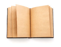 Open spread old book with blank page Royalty Free Stock Images