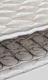 Open spring and foam - latex bonnell mattress cross section Royalty Free Stock Images