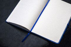 Open square ruled notebook
