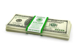 Open stack of US Dollars. 3d illustration vector illustration
