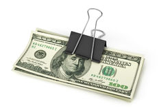 Open stack of US Dollars. 3d illustration Royalty Free Stock Photos