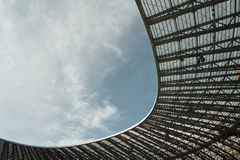 Open stadium roof Stock Photography