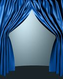 Open stage curtain Stock Images
