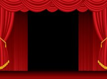 Open stage curtain Royalty Free Stock Photos