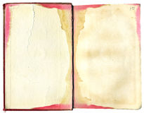 Open, stained book Royalty Free Stock Images